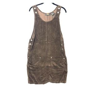 VTG No Boundaries Corduroy Bib Overall Dress M